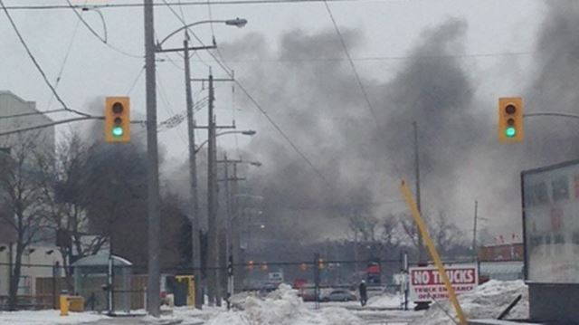 Structure fire on Erskine Avenue
